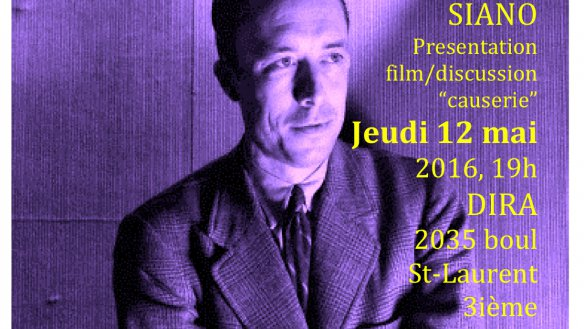 WAS ALBERT CAMUS AN ANARCHIST? REVOLT, FREEDOM & REVOLUTION IN HIS PLAYS, A FREE FILM PRESENTATION & DISCUSSION,  THURS MAY 12, 2016